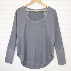 Lucky Brand Gray waffle Knit Thermal Top Medium M
